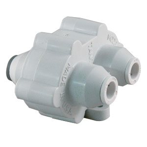 "Hydronamic Auto Shutoff Valve, White - 3/8"" Mur-lok, 300 gpd or less"