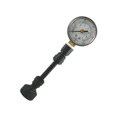 Pressure Check Kit - 0 - 100 psi Glycerin Filled Lead Free - Garden Hose Connection