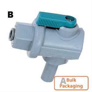 "90 Ball Valve-3/8"" ML Stem x 1/4"" Mur-lok (Bulk Pkg)"