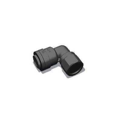 "1/4"" Tube x 1/8"" Female NPTF Elbow-Black"