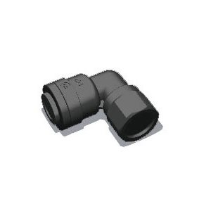 "1/4"" Tube x 1/8"" Female NPTF Elbow-Black (10/Bag)"