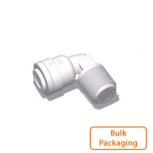 "3/8"" Tube x 1/4"" Male NPTF Elbow (Bulk Pkg)"