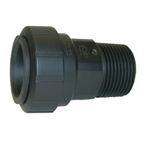 """1"""" CTS x 1"""" NPT Male Connector - Black"""