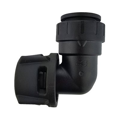 """Female Elbow Connector, 3/4"""" CTS x 1 1/4"""" NPS, Black"""