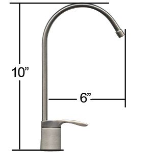 QMP Long Arch Air Gap Faucet-Brushed Nickel