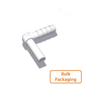 "1/4"" Stem x 1/4"" Hose Barb Elbow (Bulk Pkg)"