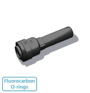 """5/16"""" Tube x 3/8"""" Stem- - Black w/Fluorocarbon O-rings (10/Bag)"""
