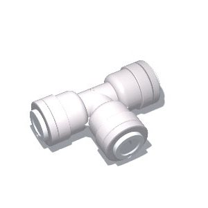 """6-PACK 1//4/""""x1//4/"""" Union Elbow Quick Connect Plug-In White Poly Mur-Lok~GA Murdock"""