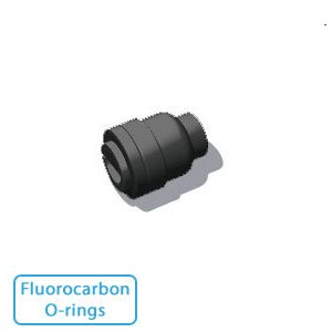 """1/4"""" Tube End Stop - Black w/Fluorocarbon O-rings"""