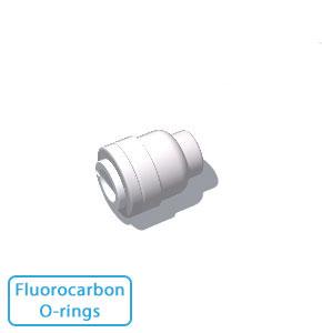 """1/2"""" Tube End Stop w/Fluorocarbon O-rings (Bulk Pkg)"""